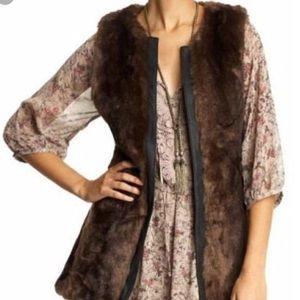 Sanctuary Rockin Natalie Brown Faux Fur Vest